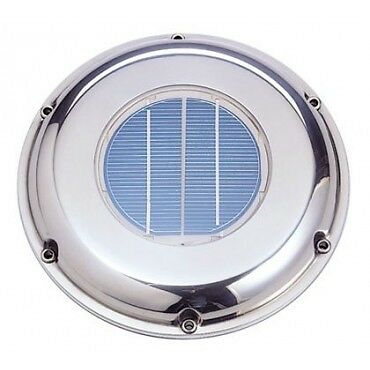 SOLAR VENT STAINLESS STEEL AUTOMATIC FAN VENTILATOR Model: SVT-224S YACHT boat