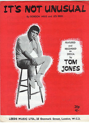 Tom Jones - It's Not Unusual Music Sheet 1965