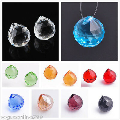 1/5pcs Multicolor 20mm Teardrop Ball Findings Crystal Pendant Beads Charms New