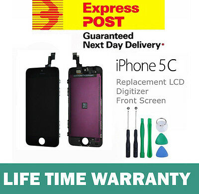 For iPhone 5C Replacement LCD Digitizer Front Screen Assembly Panel + Tool Black