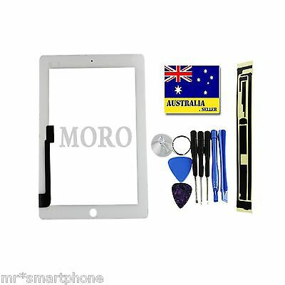 White iPad 4 4th Gen Touch Screen Glass Digitizer Replacement A1458+HOME BUTTON