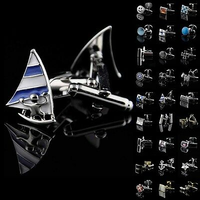 Lot Vintage Mens Wedding Party Gift Shirt Stainless Steel Novelty Cufflinks