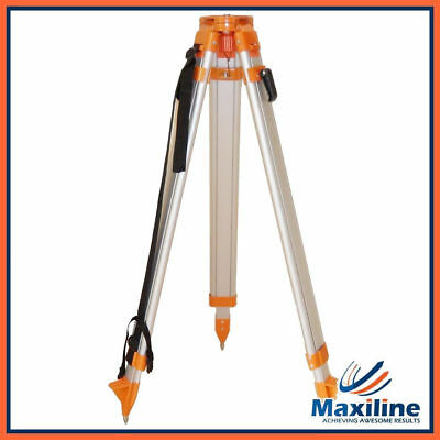 Flat Head Tripod for Rotation Rotary Laser level Dumpy Level Quick Clamp Release