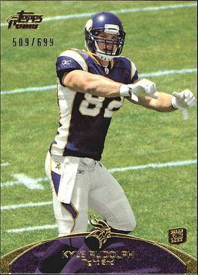 2011 Topps Prime Gold #37 Kyle Rudolph/699