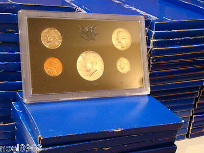 1969-S Proof Set Five Proof Coin Including The Silver Proof Kennedy Half Dollar