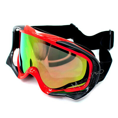 Ski Snowboard goggles Motorcycle motocross riding UV protection  Red Tinted lens