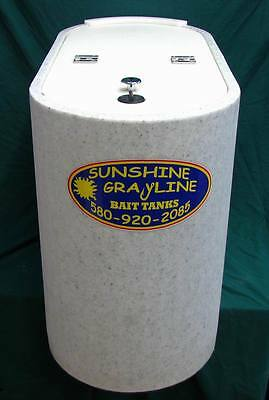 Grayline bait tank 25 Gallon Slimline Oval Blue Interior Removable dual Air