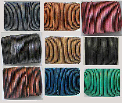 100% Real Vintage Round Leather Cord 1,1.5,2,3,4,5mm String Lace Thong Jewellery