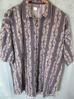 90's Triumph Of California Size Large Club Shirt NWOT Round Cut Tails USA Made