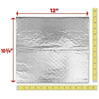 "(500 SHEETS) 12"" x 10 3/4"" POP UP ALUMINUM FOIL SHEETS BAKED POTATOES/USA MADE"