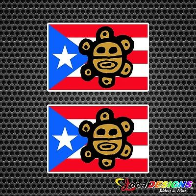 puerto rico flag with coqui taino decals. Black Bedroom Furniture Sets. Home Design Ideas