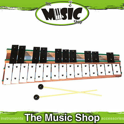New Angel AX625C Chromatic Glockenspiel with Beaters - Steel Bars - C2-C4