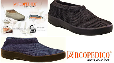 Arcopedico Shoes knitted top flat - New Sec - made in Portugal - 3 colours
