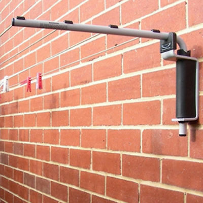 Indoor Outdoor Wall Mounted Folding Slimline Clothes Line & Clothes Hoist