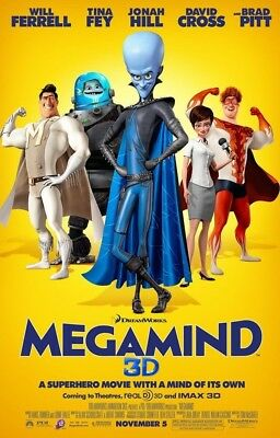 MEGAMIND MOVIE POSTER 2 Sided ORIGINAL FINAL 27x40 WILL FERRELL