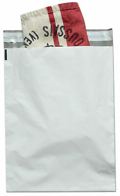 "1000 Pcs 7.5"" x 10.5"" White Poly Mailers Envelopes Bags 2.5 Mil"