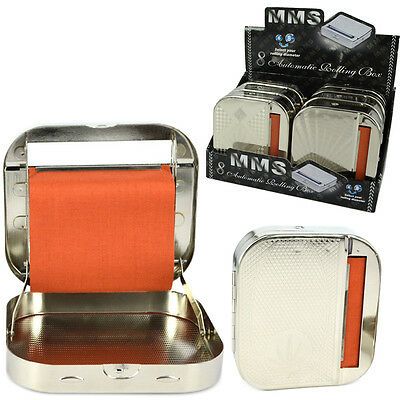 New Tin Box Automatic Rolling Machine Metal Roller Cigarette Tobacco Roll Up