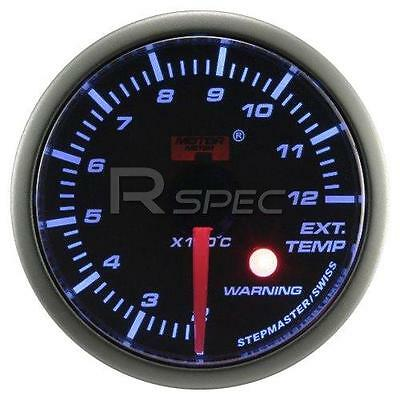 Car 52mm Smoked Blue 52mm Stepper Motor Exhaust Gas Temp EGT with warning