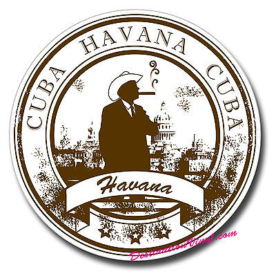 2 x Glossy Vinyl Stickers - Cuba Havana Cool Gift Luggage Fun Laptop Decal #0147