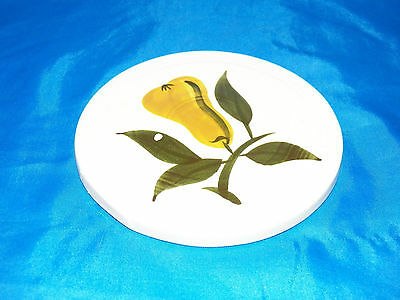 Vintage Stangl Stoneware Hot Plate Trivet Pear Fruit Decorated Tile VGC White