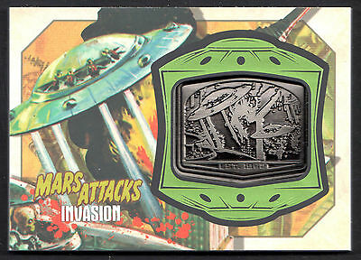 MARS ATTACKS! INVASION (Topps/2013) MANUFACTURED MEDALLION CARD #MM-10