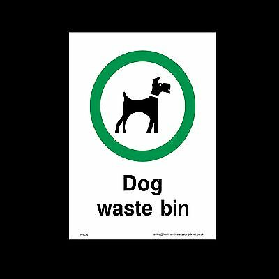 Dog Waste Bin Sign, Sticker - All Sizes & Materials - (PPA24)