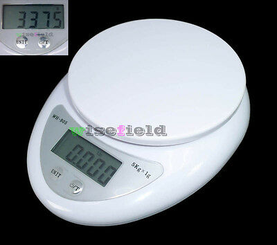 Kitchen LCD Postal Digital Scales Food Diet Electronic Weight 5kg/1g 1kg/0.1g WF