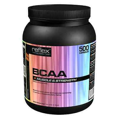 Bcaa - Branch Chain Amino Acids - Muscle Repair - 500 Capsules - From Reflex