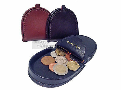 Real Leather Coin Tray Purse Wallet Gents Small Change Men Small Pocket