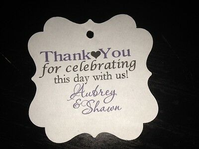 Wedding Favor Tags Square Personalized Thank You For Celebrating