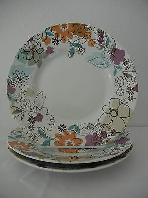 222 Fifth Floral Riot 3 Salad Plate (S) Contemporary