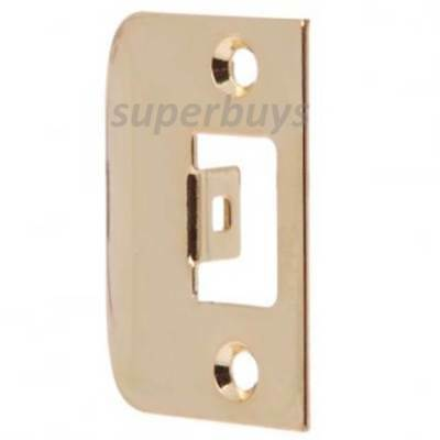 Brass Door Lock Latch Striker Strike Striking Plate Pad Bolt Jamb D Set Lockset