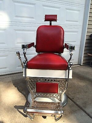 Vintage THEO A KOCH 39 S Barber Chair Side Hand Pump Assembly