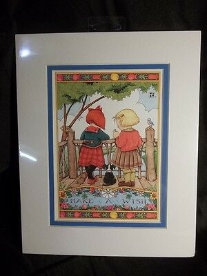1998 Mary Engelbreit Matted Picture/card/print 8X11 Make A Wish New Sealed