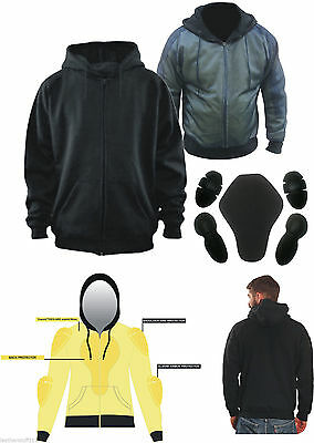 Motorcycle Hoodie Fully Reinforced  DuPont™ KEVLAR® Armid Fibre & CE Armoure