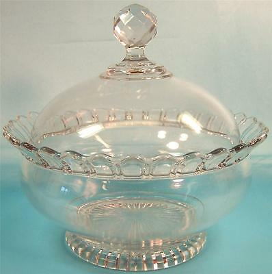 EAPG, Covered Footed Fruit Bowl. 19th Century