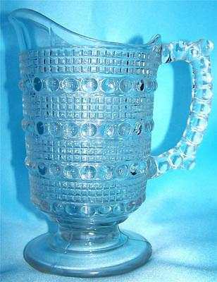 """Antique EAPG Cream Pitcher """"Banded Raindrops"""" aka """"Candlewick"""" 19th century"""