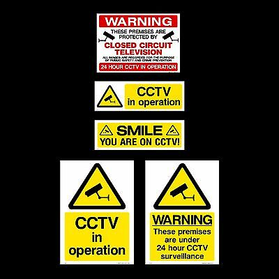 CCTV Sign, Sticker - All Sizes & Materials - Security, Camera, Warning