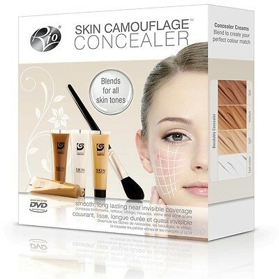 Rio Skin Camouflage Concealer Tattoo Scar Blemish Covering Blending Make-Up Kit