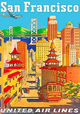 San Francisco California II Vintage United States Travel Advertisement Poster