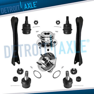 2 Front Wheel Hub Bearing Assembly 4WD 2WD + 2 Upper Control Arm + 4 Ball Joint