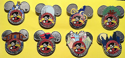 WDW Cast Lanyard Complete Set of Pin Trading Logo Collection Series 4 Pin Pins