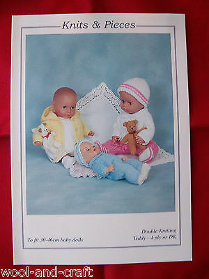 Knits & Pieces Dolls Clothes For 30Cm - 46Cm Dolls Knitting Pattern (M)19