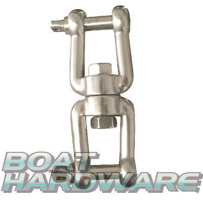 Jaw Jaw Swivel 8mm with forged pins 316 Stainless Steel Boat Anchors Zip lines..