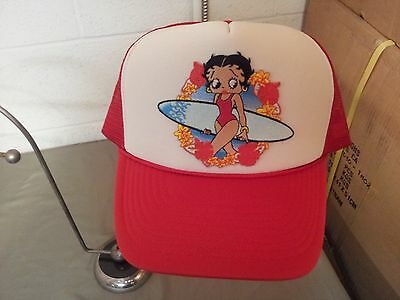 Betty Boop Surfer Girl Mesh Snapback Baseball Cap Hat