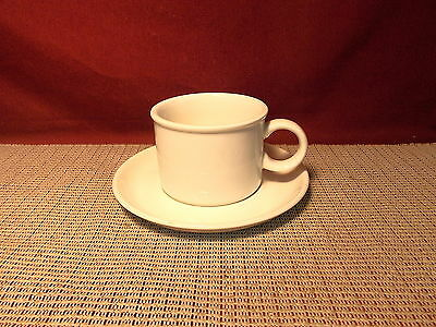 Midwinter China England Stonehenge White Pattern Cup & Saucer Set
