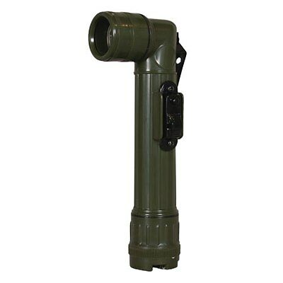 GI Military Angle head Flashlight Green / Olive Drab Army SWAT USMC USAF Navy AA