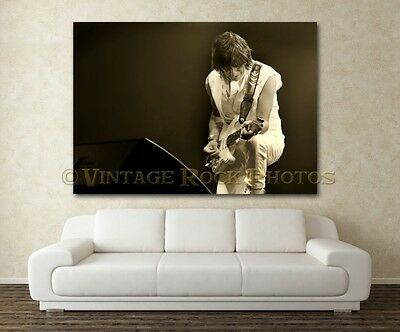 Jeff Beck 20x30 in Fine Art Gallery Canvas Print Photo Gilcee Framed '09 UK s25