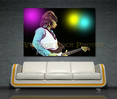 Jeff Beck 20x30 inch Fine Art Gallery Canvas Print Photo Framed Mounted 11