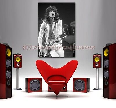Jimmy Page Led Zeppelin 20x30 in Art Gallery Canvas Print Framed Gilcee Photo 3